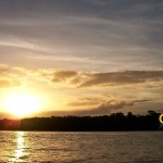 Sweet sunset in the Demerara River