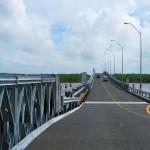 The Berbice River Bridge.