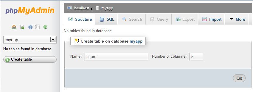 Php mysql create table with index - Create table mysql example ...