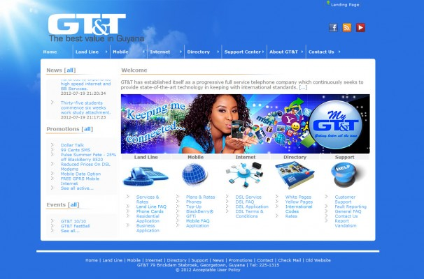 Gt&T Landing Page
