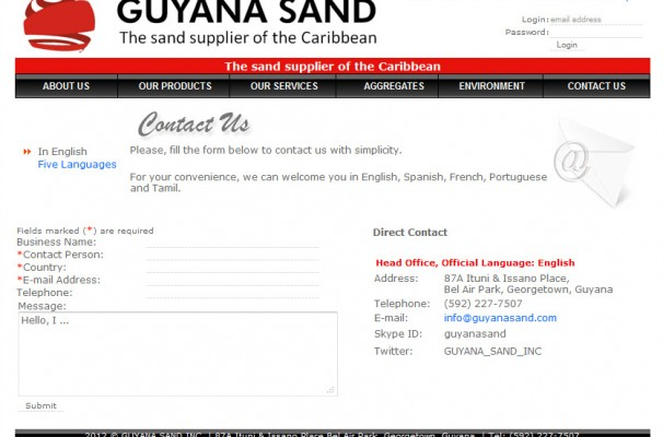 The contact Page