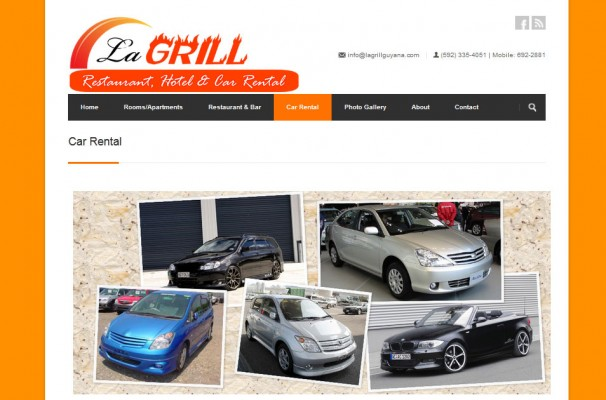 The Car Rental Page