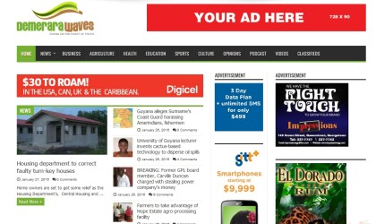 Demerara Waves – Online News/Information Website