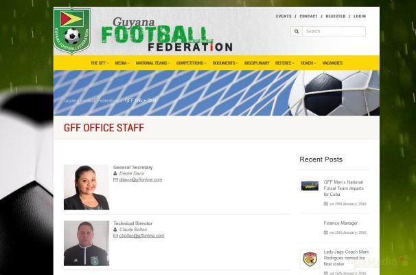 Staff Page