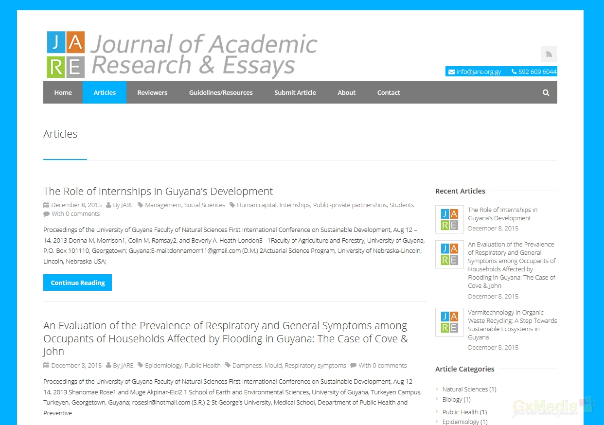 scientific research and essays academic journals
