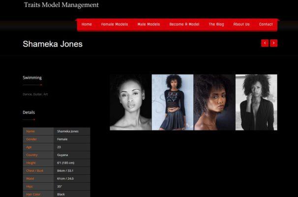 Model Portfolio Page