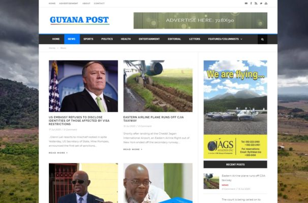Guyana Post Online News/Blog Page